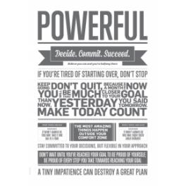 Powerful, grå