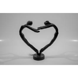 Hjerte figur, sort metal