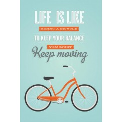 Life is like riding, A3 plakat