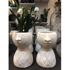 Keramik vase, hvid krop