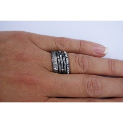 Ring, 5 stk. rhodium